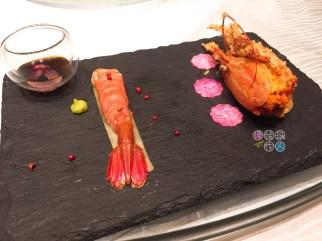 牡丹蝦配粉紅胡椒