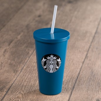 Dark Blue Stainless Steel Cold Cup