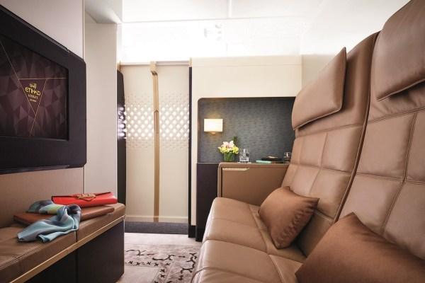 阿提哈德A380 空中官邸艙-客廳