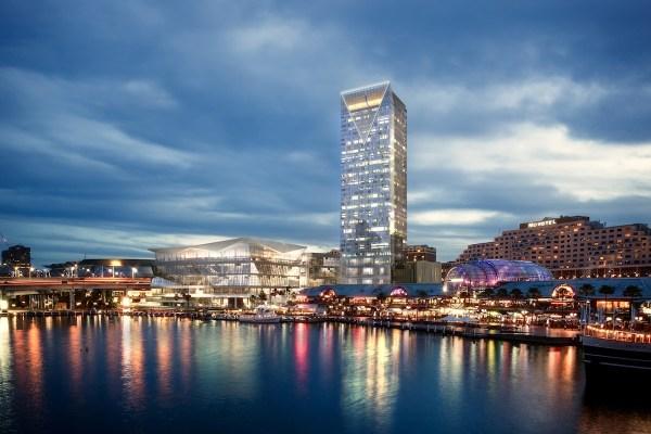 Sofitel Sydney Darling Harbour render night