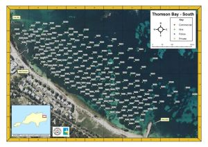 Rottnest Island Thomson Bay mooring map