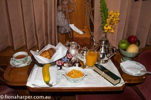 Breakfast onboard Eastern Oriental Express train