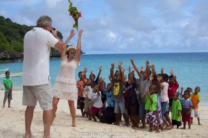 Tourism Photographer David Kirkland on location in Lau Islands Fiji with Capt Cook Cruises