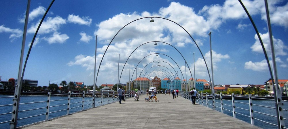 The Swinging Lady in Willemstad, Curaçao.