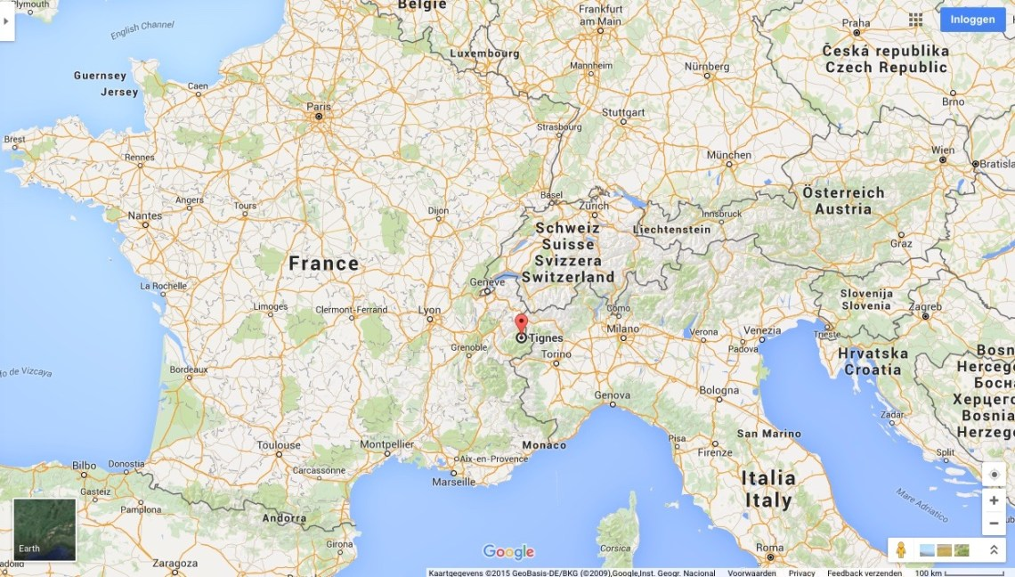 map tignes europa