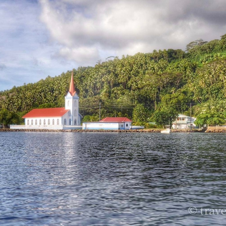 The lovely little church, seen from the water.