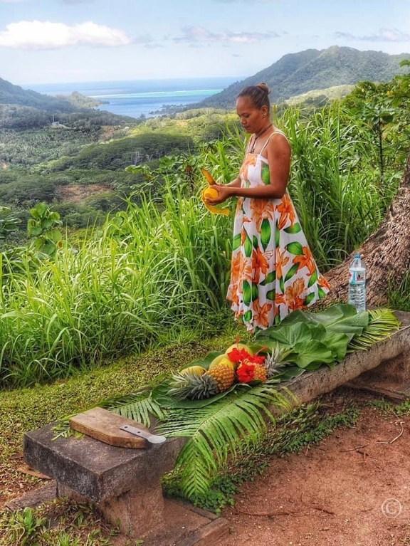 ...en heel veel tropisch fruit. Lekker!