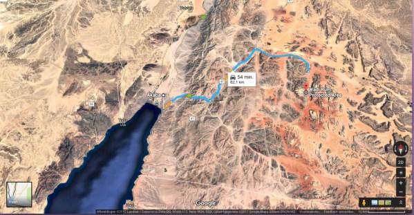 map wadi rum