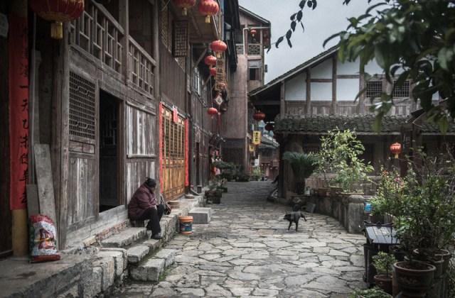 Streets of Gongtan Ancient Town in Youyang Chongqing