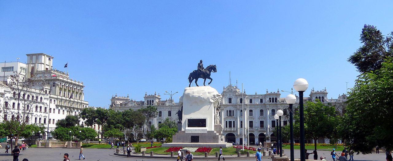 San Martin Square in Lima Peru