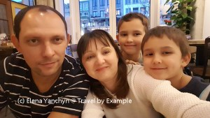 Our family - Yuriy, Elena, Roman and Andrey