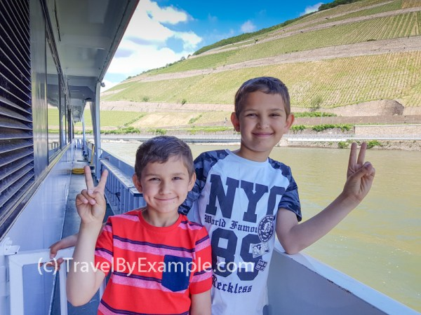 Roman and Andrey enjoying the cruise