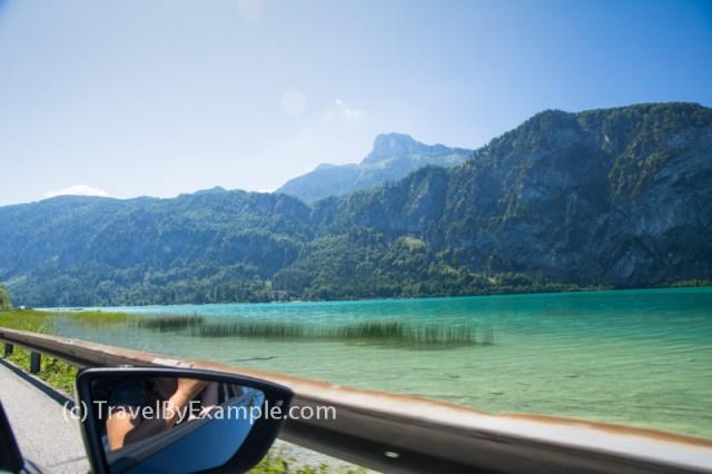 Picturesque drive along Austrian lake