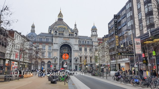 Antwerp Central Train Station building