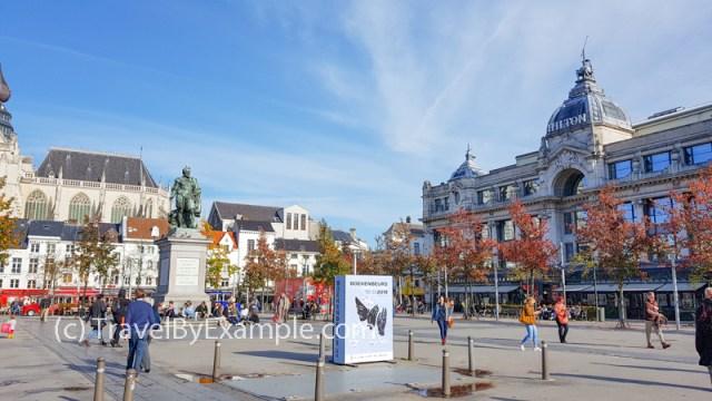 Groenplaats and Pieter Paul Rubens statue