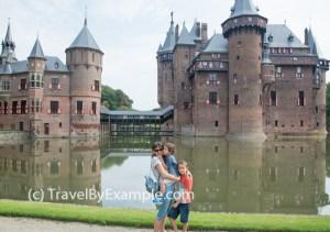 Elena with the boys at Castle De Haar