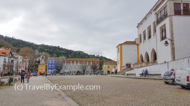 Sintra old town with the National Palace on the right