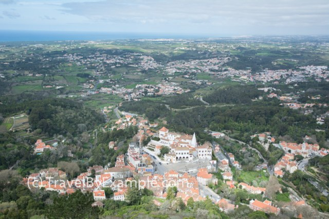View to Sinta town from Moorish castle