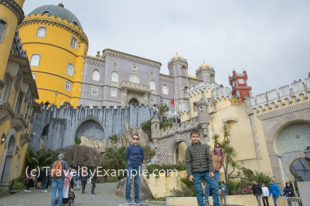 Roman, Andrey and Elena (and other tourists) at the Pena palace