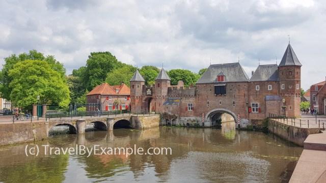 Koppelpoort - medieval city gate and watergate in Amersfoort