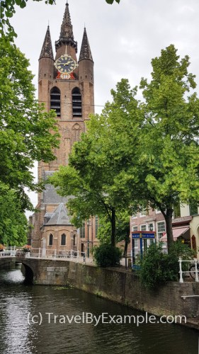 Tower of Oude Kerk in Delft