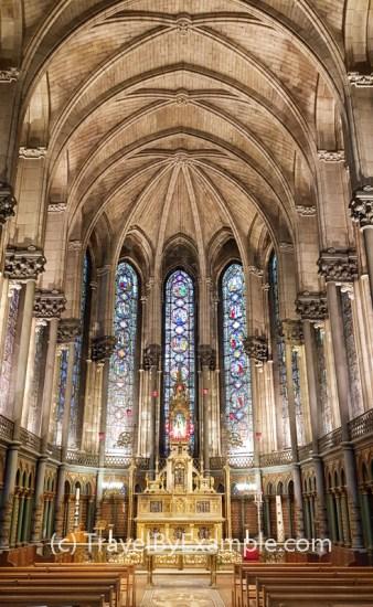 Inside the Notre Dame de la Treille