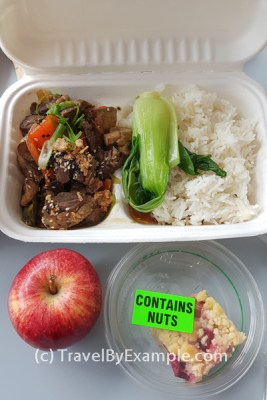 Food in managed isolation in New Zealand - lunch
