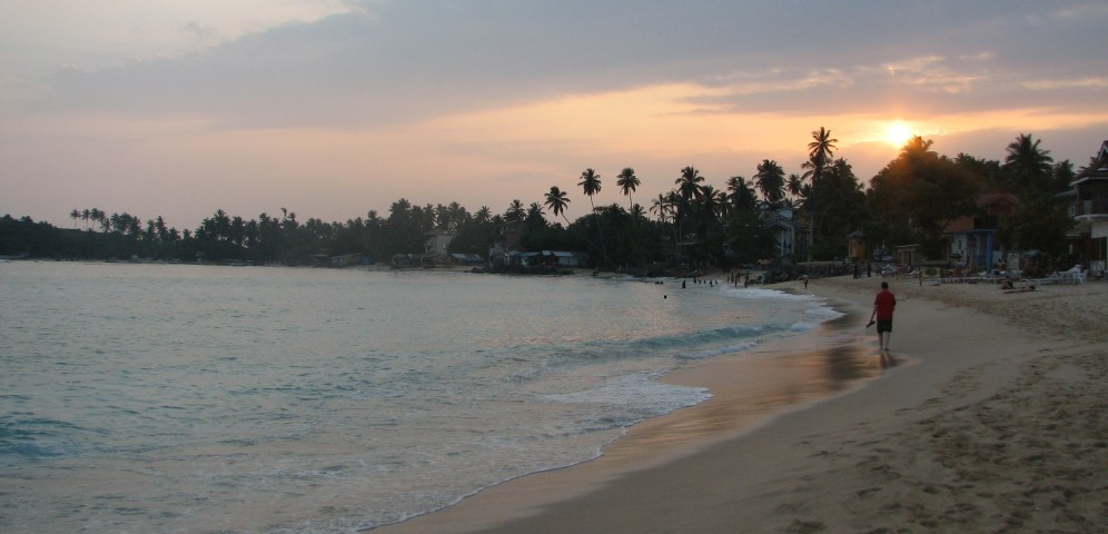 The Unawatuna beach
