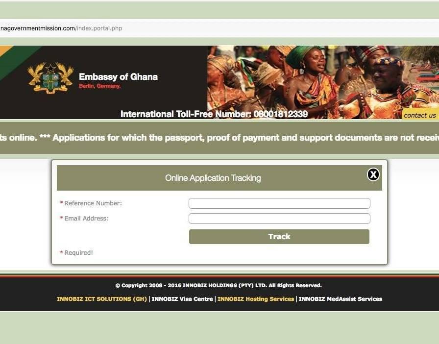 track your Ghana Visa Status online