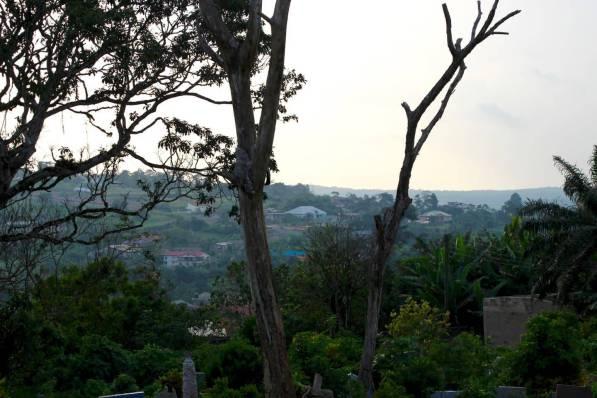 Aburi Berglandschaft