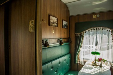 Themed train compartments