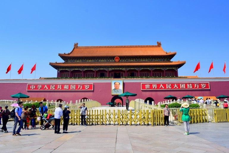 שער טיאן-אן-מן בבייג'ינג- מקום הכרזת הרפובליקה העממית של סין (צילום: טל ניצן)