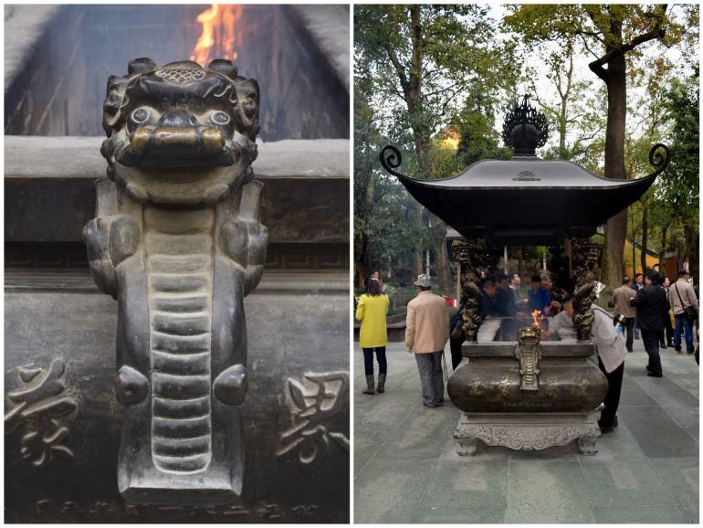 דמויות ועיטורים מושקעים מקשטים כל חלקה במקדש (צילום: טל ניצן)