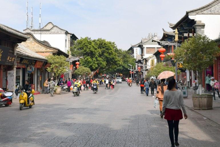 רחוב לין-אן המשופץ (צילום: טל ניצן)