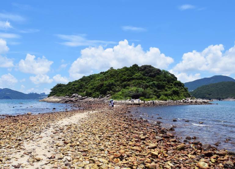 השביל הגיאולוגי של שמורת האי הגבוה בסיי קונג (צילום: טל ניצן)