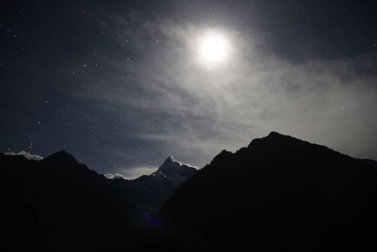 רכסי ההרים סביב יובנג עליון - מסע רגלי בין אתרי קודש טיבטיים (צילום: יובל לוי)