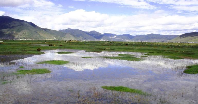 אגם נאפה. מתרחב ומתייבש לפי העונות (צילום: יובל ירושלמי)