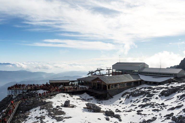פארק הקרחון בהר דרקון הג'ייד. מקווי הרכבל הגבוהים בעולם (צילום: שאטרסטוק)