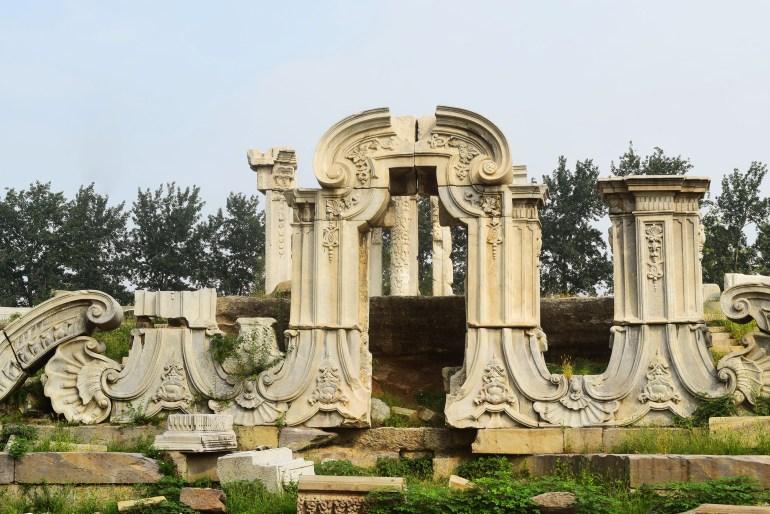 קשת השיש. הפכה לסמל של ארמון הקיץ הישן (צילום: טל ניצן)
