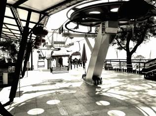 Shijing Mountain park cablecar station in Zhuhai