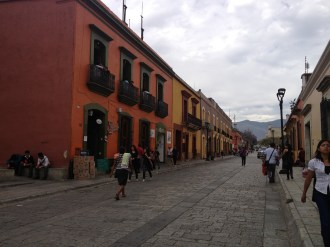 The streets are alive with colour in Oaxaca