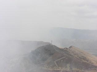 At the crater's edge of Masaya