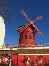The famous red windmill