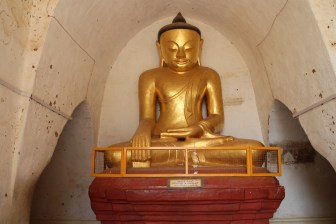 One of the Buddha's at Thatbyinnyu, the highest temple