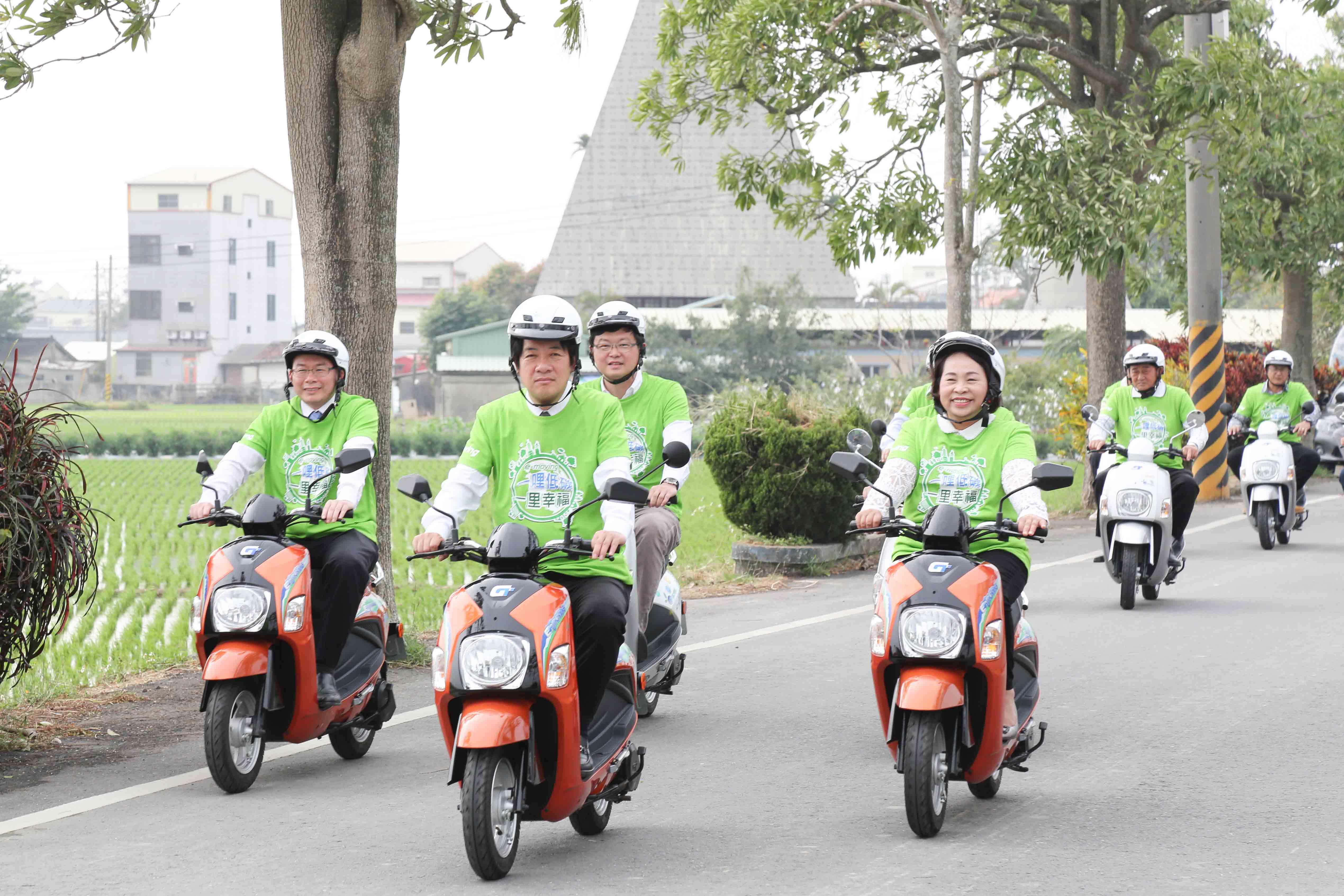推廣低碳旅遊 台南後壁區設立電動二輪租賃站