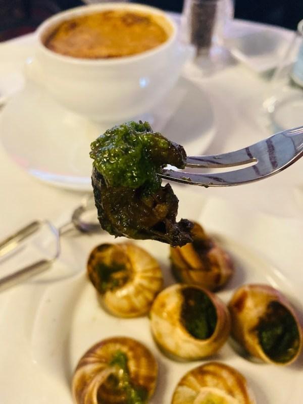 巴黎富凱餐廳,Le Fouquet's,烤田螺