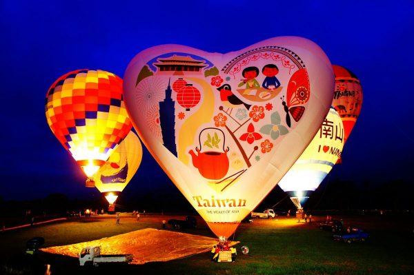 熱氣球,台東,鹿野高台,光雕音樂節