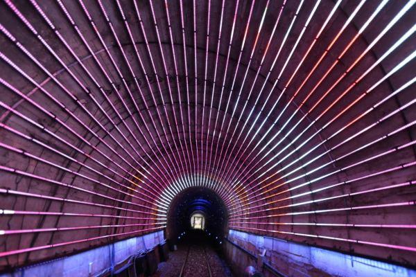 railbike,深澳鐵道自行車,七夕,夜間,光隧道
