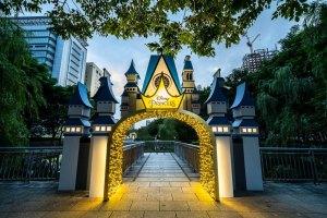 新北耶誕城,板橋,迪士尼,公主,光雕