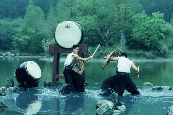 宜蘭,明池,十鼓,池中劍,擊鼓表演